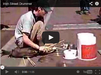 Irish Street Drummer by cstabile