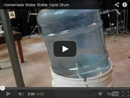 Homemade Water Bottle Hand Drum by janken919