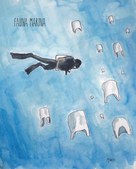 Fauna Marina - Ruben Manso - Basuriñeta