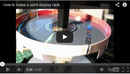 How to make a paint display rack by HQBunker