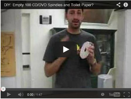 DIY: Empty 100 CD/DVD Spindles and Toilet Paper? by  Joe Philipson