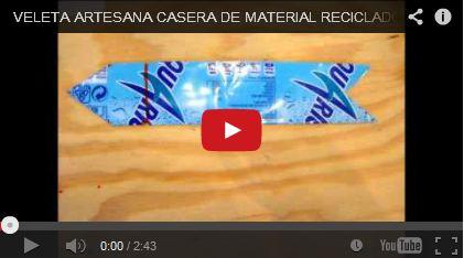 Veleta artesanal con materiales reciclados - Jose Julian