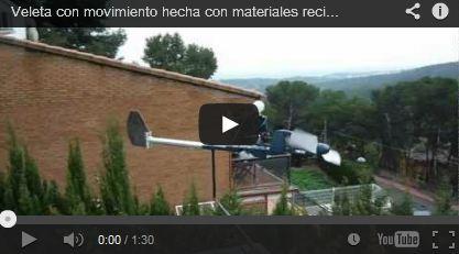 Veleta con movimiento hecha con materiales reciclados II  -  Oriol Juan Carlos