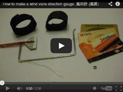 How to make a wind vane direction gauge - Cliff Leung
