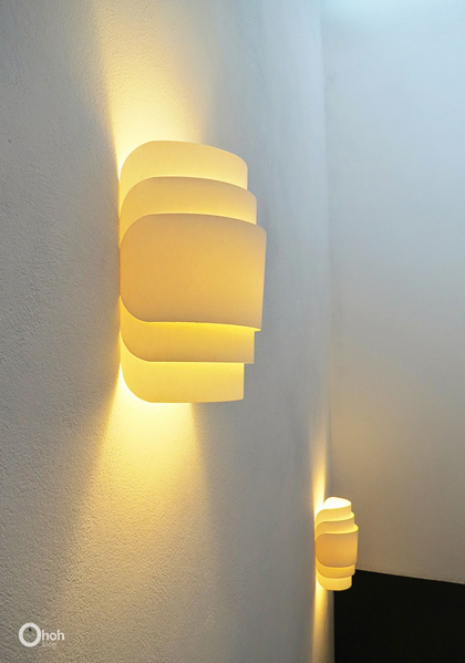 DIY Paper wall lamp - Oh oh blog