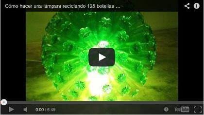 Cómo hacer una lámpara reciclando 125 botellas de plástico - How to recycle plastic bottles - Reciclaje Creativo