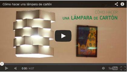 Cómo hacer una lámpara de cartón - Las Manualidades.com