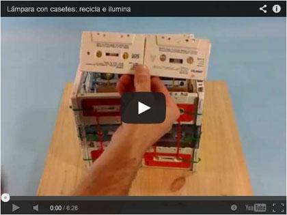 Lámpara con casetes: recicla e ilumina - UtilidadTV