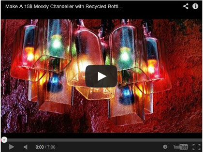 Make A 15$ Moody Chandelier with Recycled Bottles that looks amazing - Saeid Momtahan