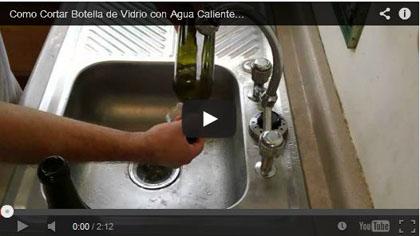 Como Cortar Botella de Vidrio con Agua Caliente Muy Fácil - Diego Torres