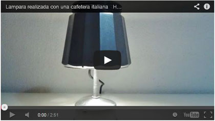 Lámpara realizada con una cafetera italiana How to make a lamp out of an italian coffee maker - recicladocreativo