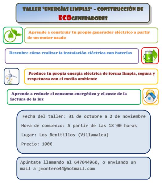 Taller de Ecogeneradores en Villamalea - Cooperativa Integral de Albacete