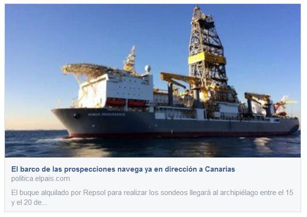 Noticia prospecciones en Canarias de El Pais
