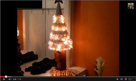 Árbol de navidad hecho con cucharas de plástico - LASCOSASDELALOLA MANUALIDADES