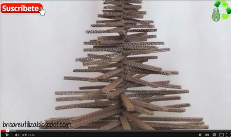 Árbol de navidad - Reciclaje de cartón - TheBrisalatina Manualidades y Reciclaje