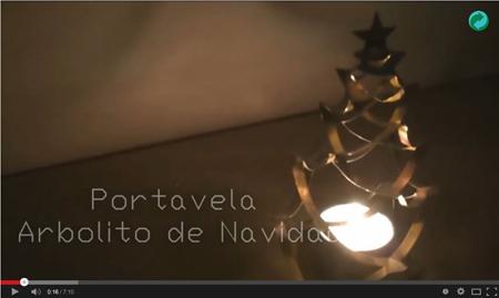 Árbol de navidad portavelas hecho con latas - ArtMöbius