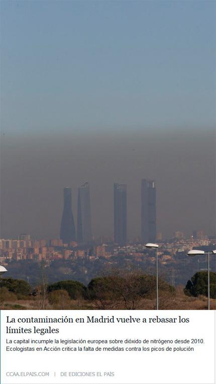 Contaminación Madrid 2015 ElPais