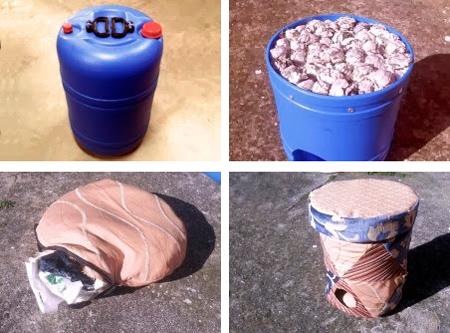 Vidóngato - Gatera y asiento reciclando un bidón - Recileaks - Rbcn