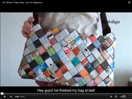 Bolso de papel trenzado - Recicleaks - kativilaga