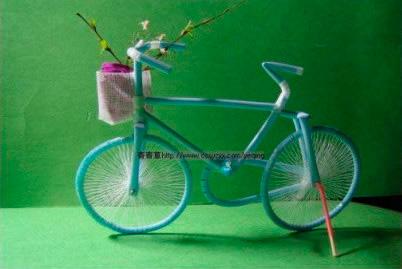 Bicicleta con pajitas - Duitang.com