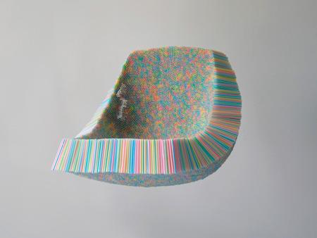 Sillón hecho de pajitas de plástico - Scott Jarvie