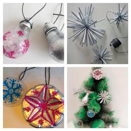 Adornos navideños reutilizando - elherviderodeideas.com