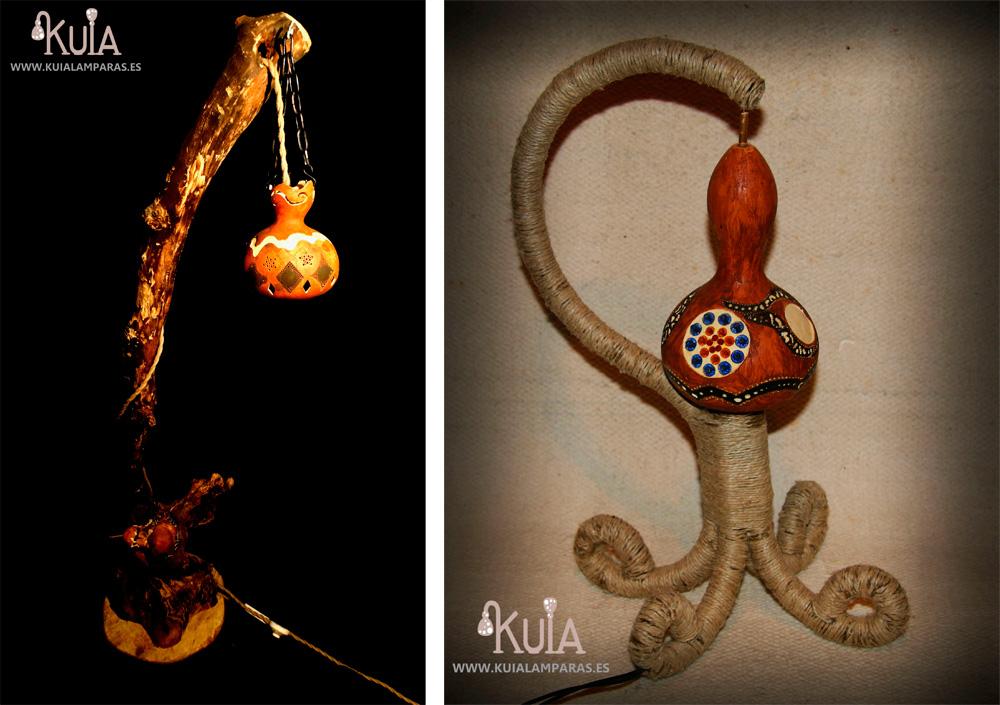 Lámparas con calabazas ecológicas - Kuia Lámparas