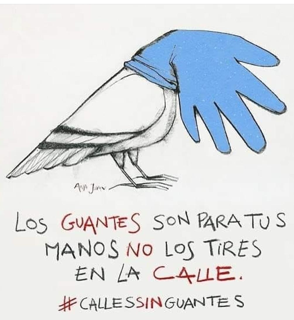Foto de la campaña de Ecologistas en Accion Calle sin guantes