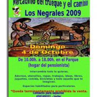 Mercadillo de trueque y cambio en Los Negrales.