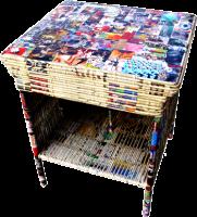 Mesa y taburete de papel - Proyecto Retrain