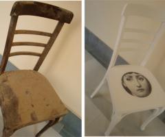 Me encontré ... una silla de madera.