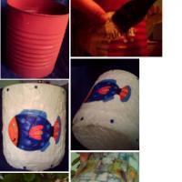 Reutilizar telgapor o bandejas de espuma plast para hacer mosaicos