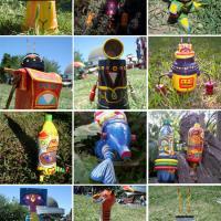 Udunekos-juguetes hechos con material reciclado.