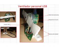 Ventilador USB reutilizando.